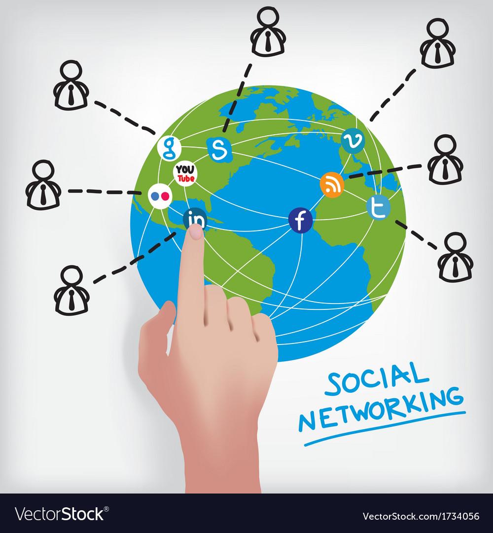 Social networking scheme vector | Price: 1 Credit (USD $1)