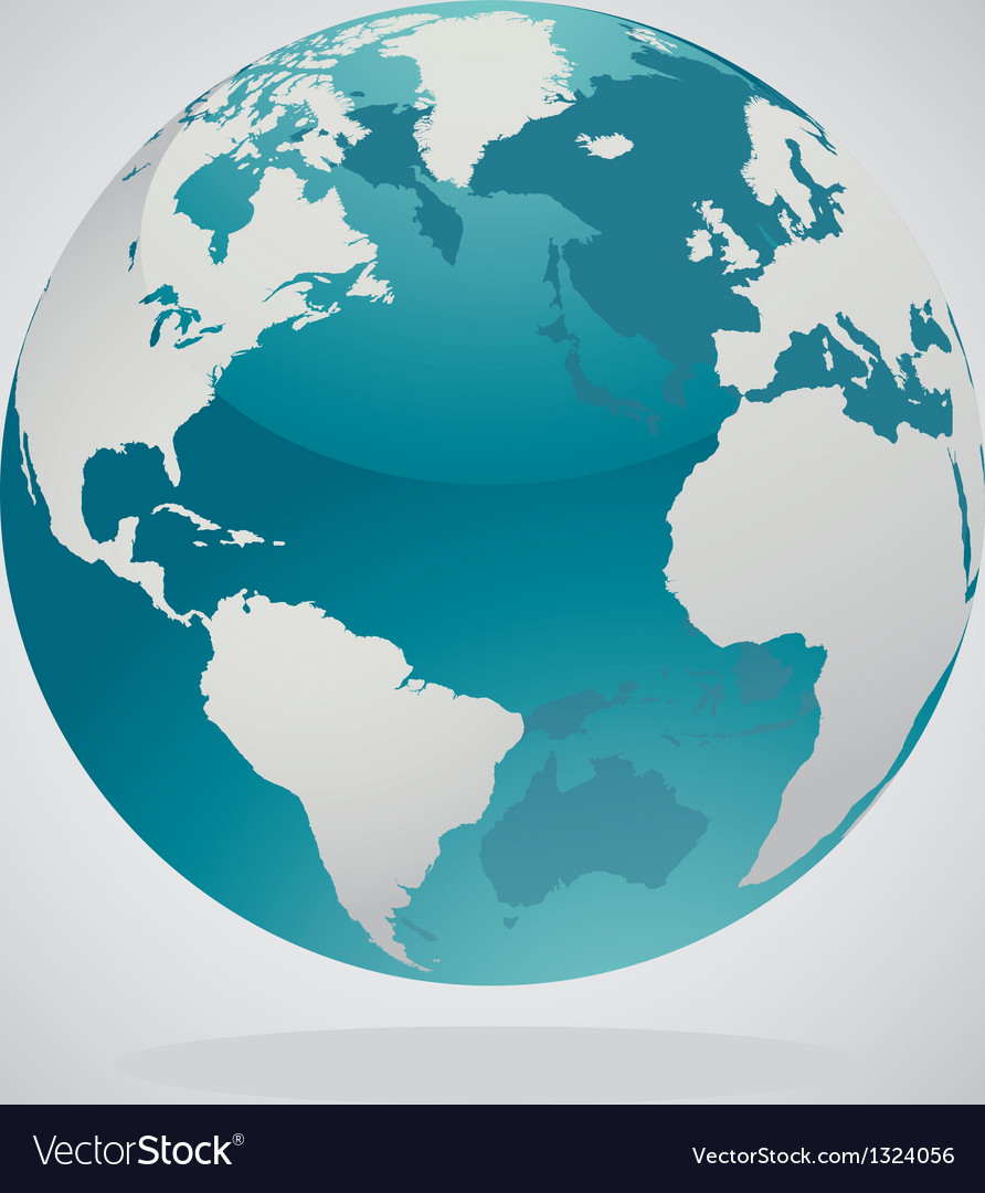 World globe vector | Price: 1 Credit (USD $1)