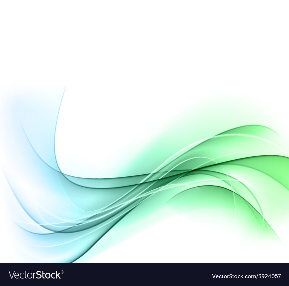 Abstract color wavy background vector | Price: 1 Credit (USD $1)