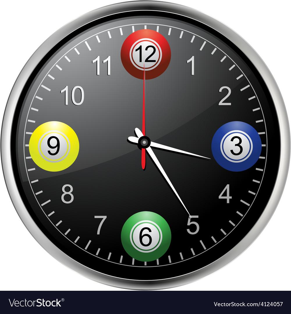 Bingo balls clock vector | Price: 1 Credit (USD $1)