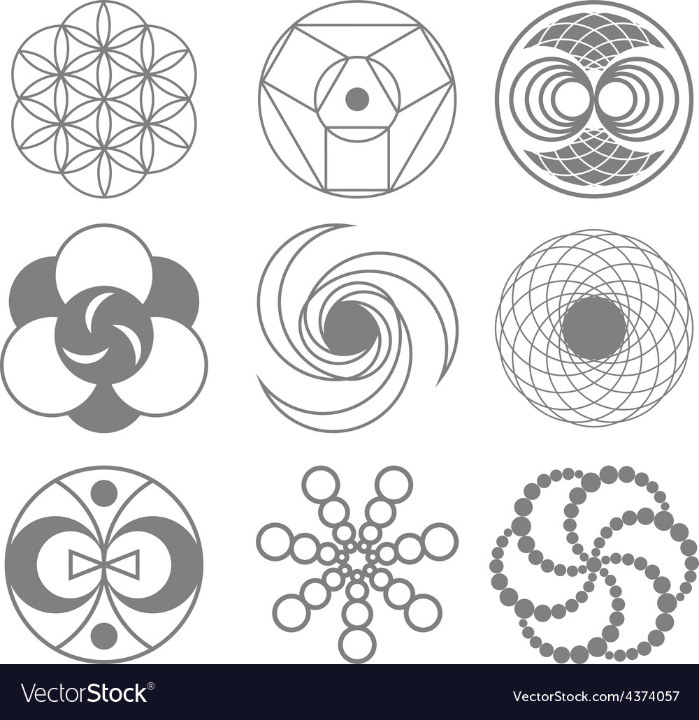 Circles on wheat fields vector