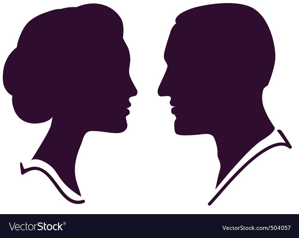 Couple profile vector   Price: 1 Credit (USD $1)