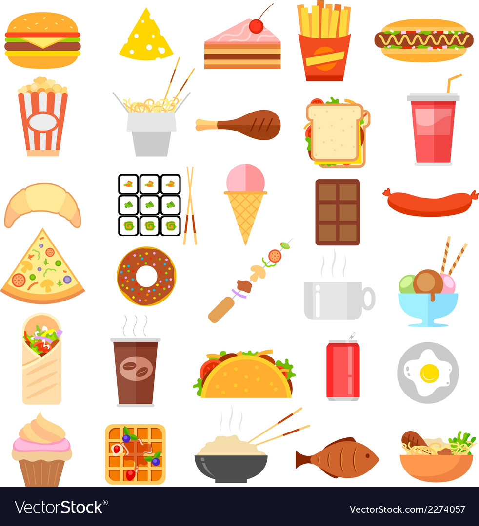 Fast food icon vector | Price: 1 Credit (USD $1)