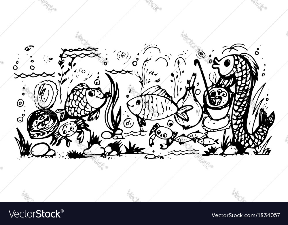 Fish and fish dishes vector | Price: 1 Credit (USD $1)