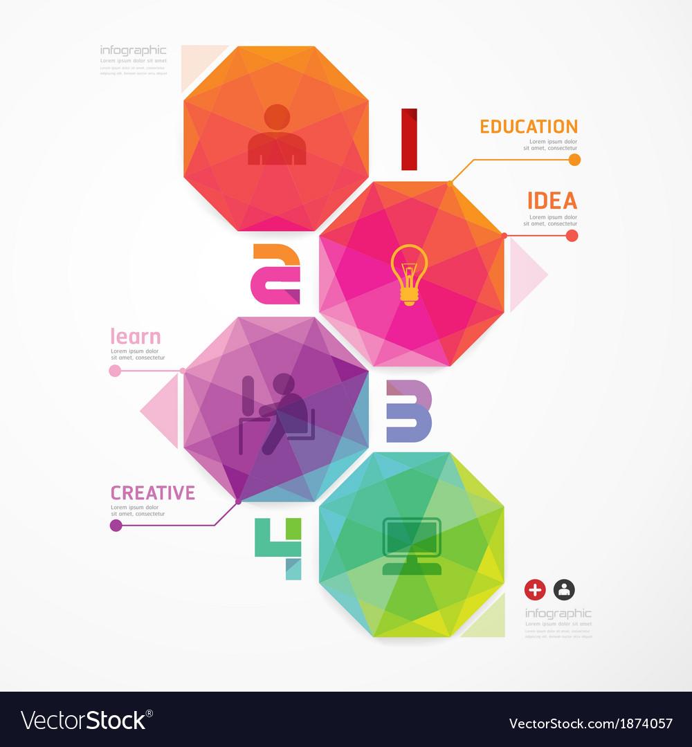 Geometric colorful modern design vector | Price: 1 Credit (USD $1)