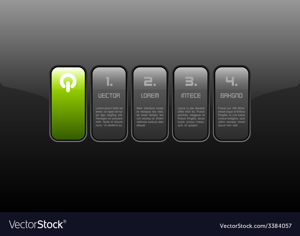 Green interface vector | Price: 1 Credit (USD $1)