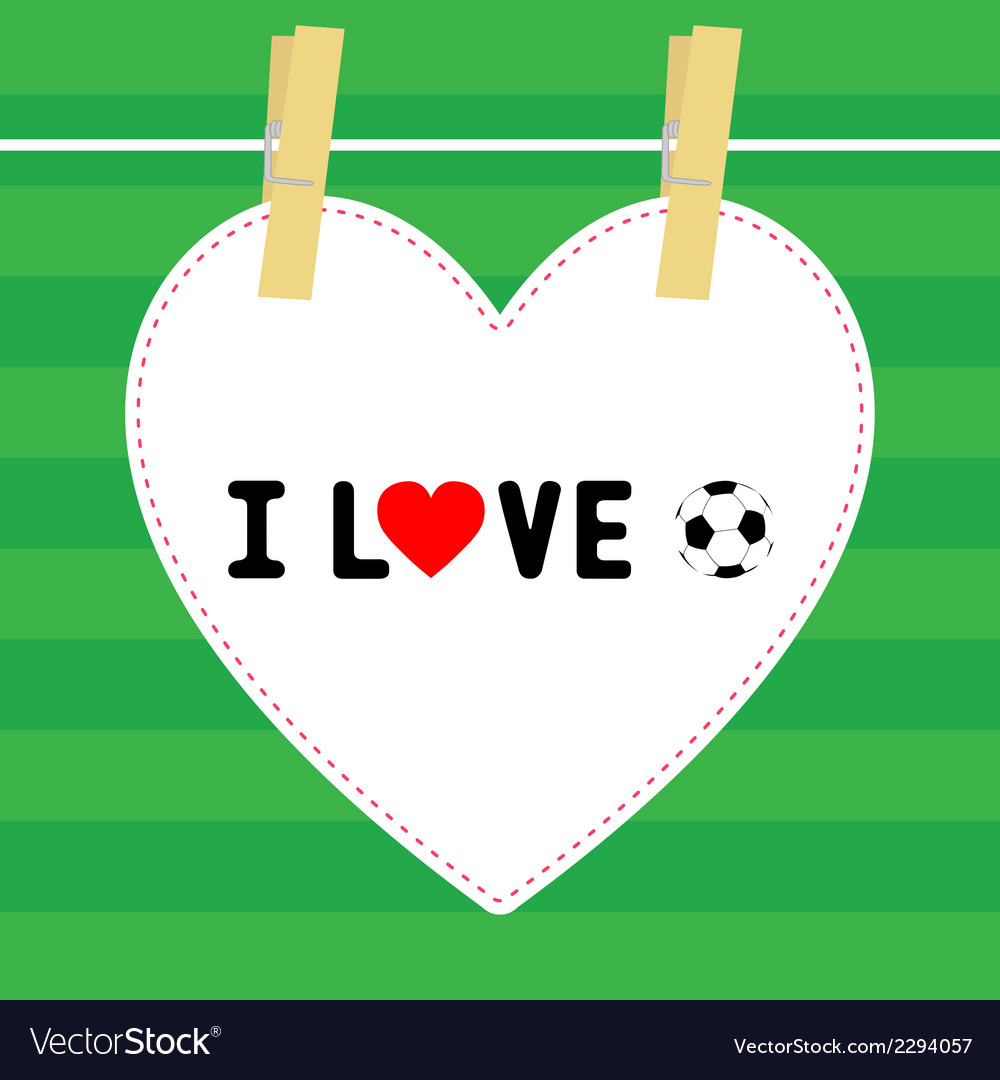 I love football9 vector | Price: 1 Credit (USD $1)