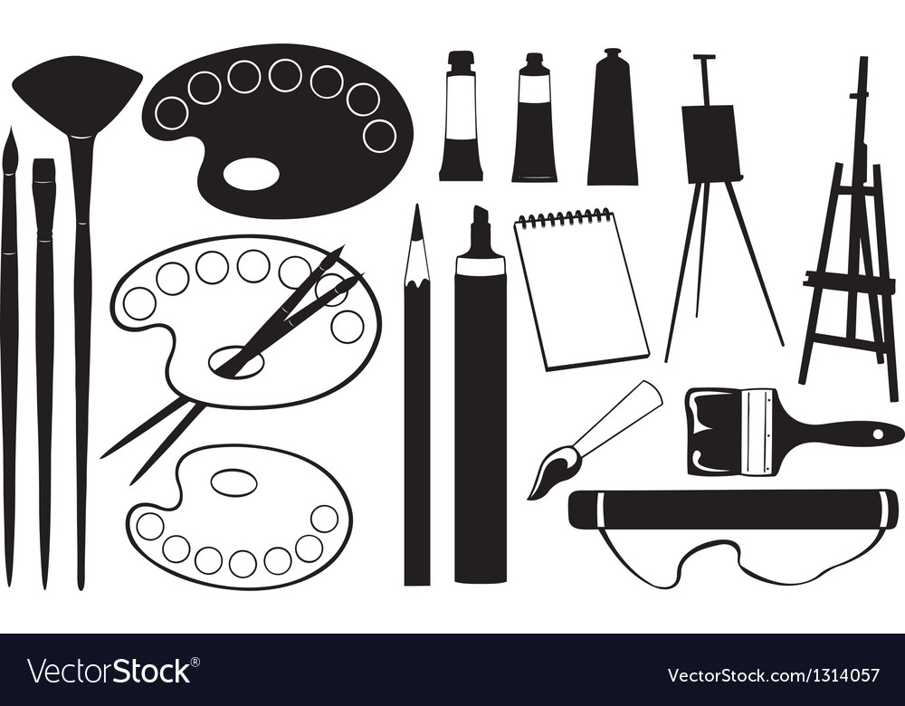 Painting tools vector | Price: 1 Credit (USD $1)