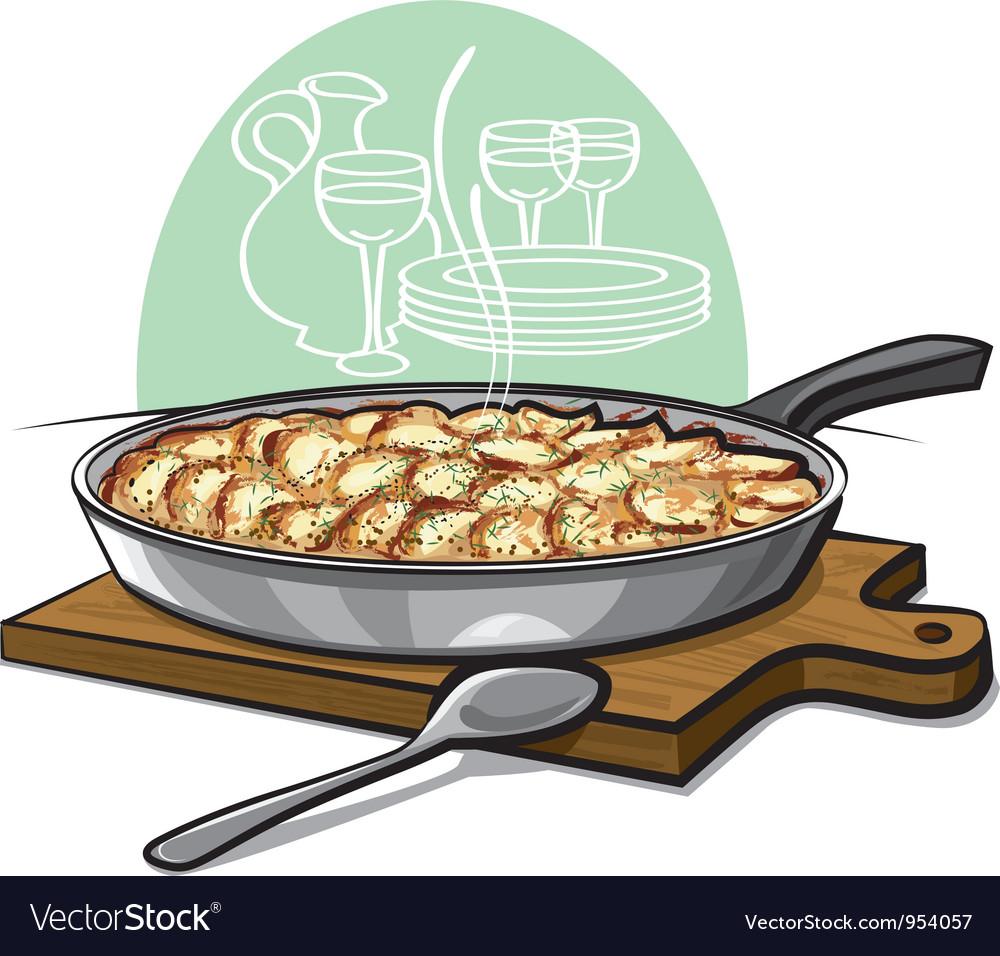 Potatoe gratin vector   Price: 3 Credit (USD $3)