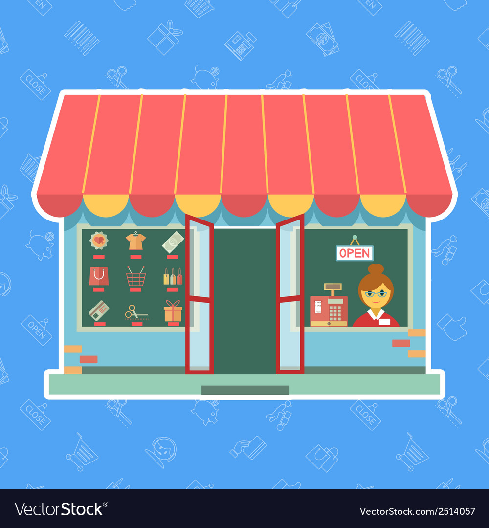 Shop or store vector | Price: 1 Credit (USD $1)