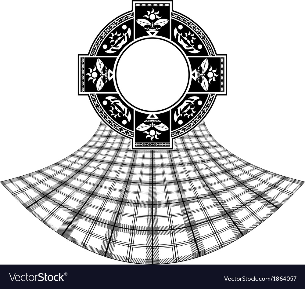 Stencil of scottish celtic ring vector | Price: 1 Credit (USD $1)