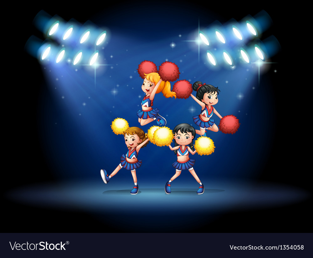 Cheerleading squad vector | Price: 1 Credit (USD $1)