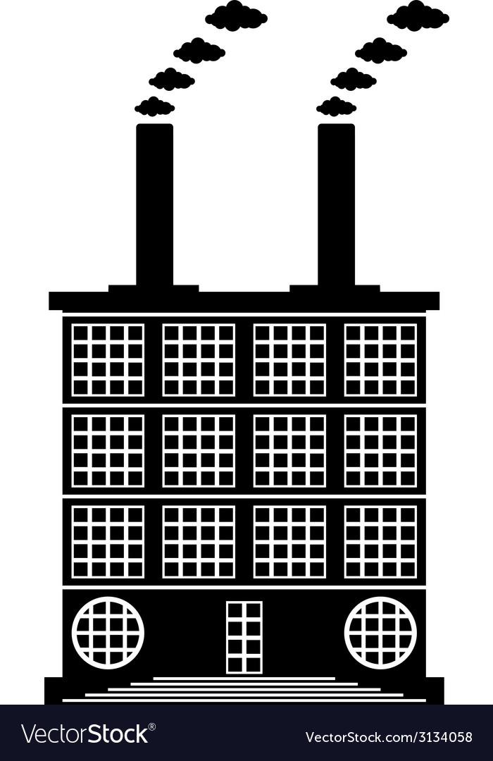 Factory building icon vector | Price: 1 Credit (USD $1)