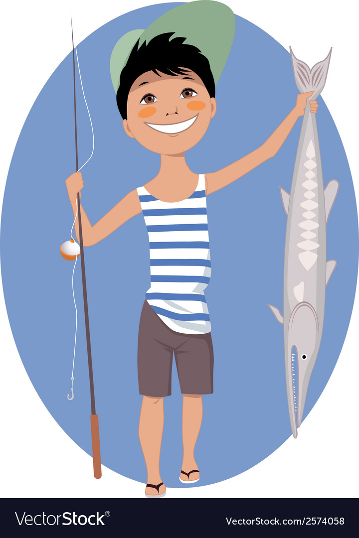 Little angler vector | Price: 1 Credit (USD $1)