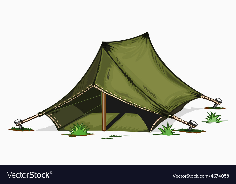 Painted tent vector | Price: 3 Credit (USD $3)