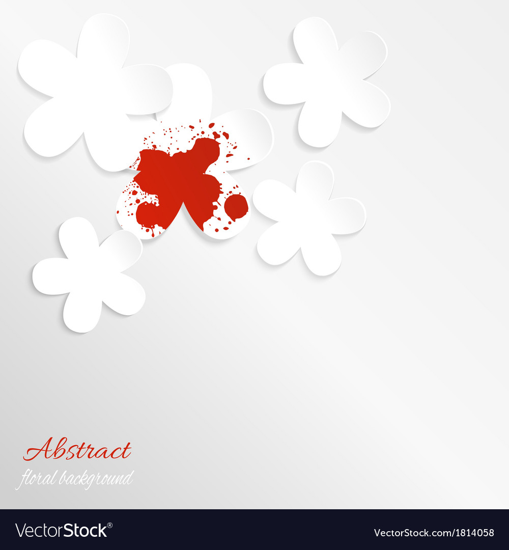 Paper floral background with red spot vector | Price: 1 Credit (USD $1)