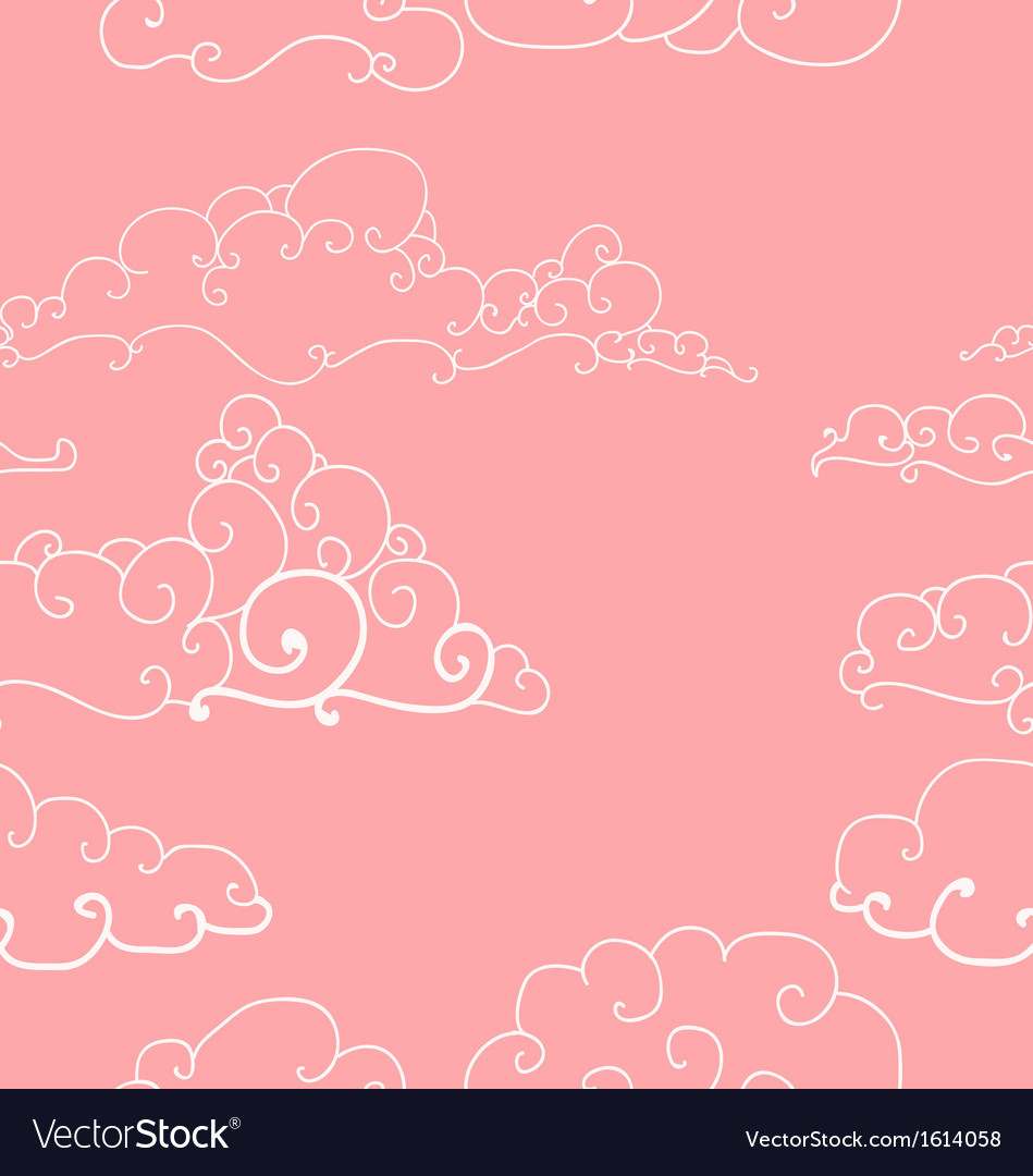 Seamless pattern of imaginative clouds vector   Price: 1 Credit (USD $1)