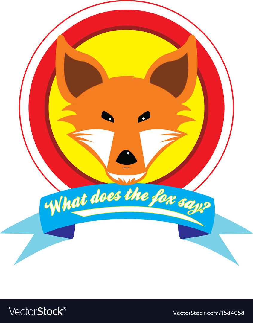 What does the fox say vector | Price: 1 Credit (USD $1)