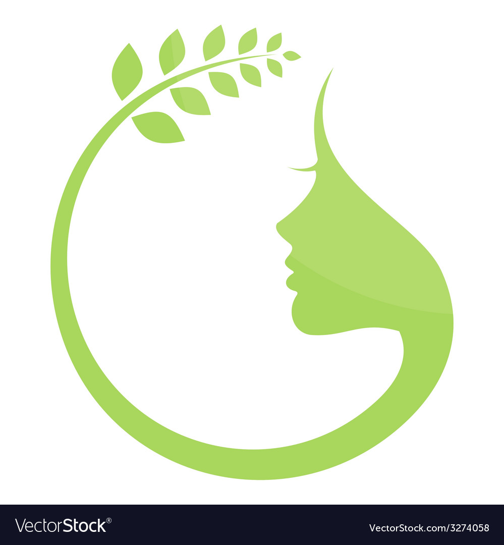 Woman the nature vector | Price: 1 Credit (USD $1)