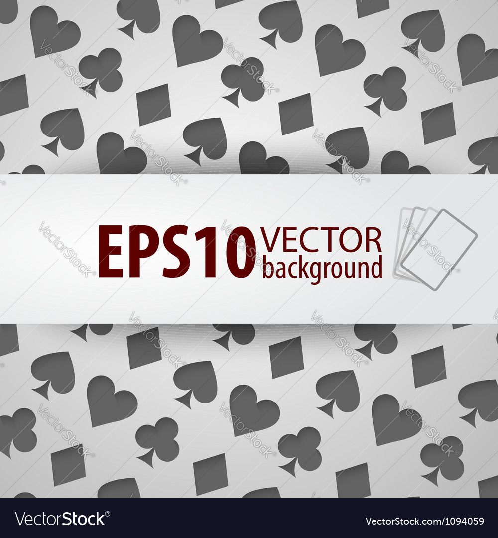 Background with different playing card symbols vector | Price: 1 Credit (USD $1)