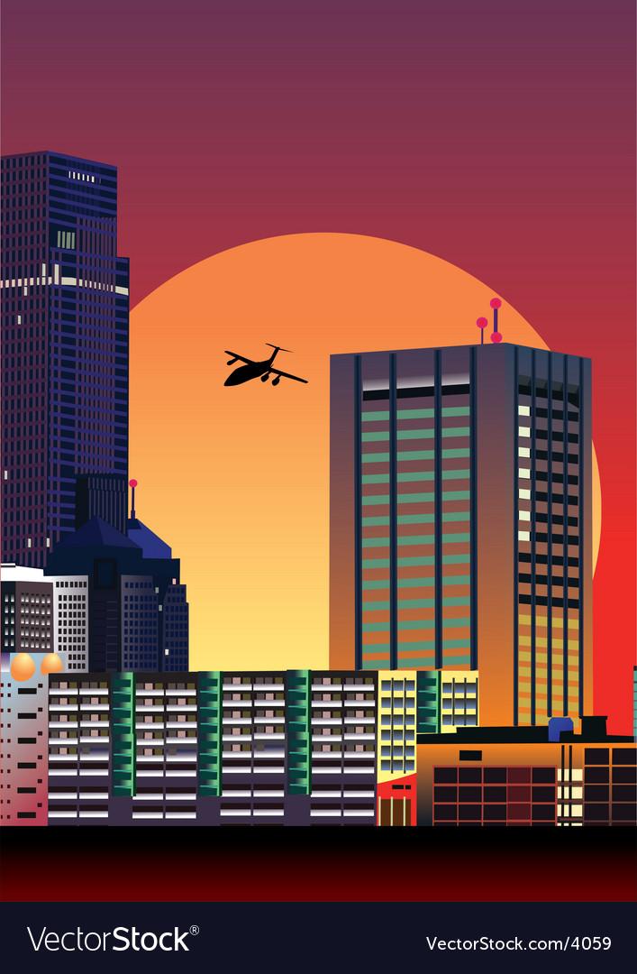 City illustration vector | Price: 3 Credit (USD $3)