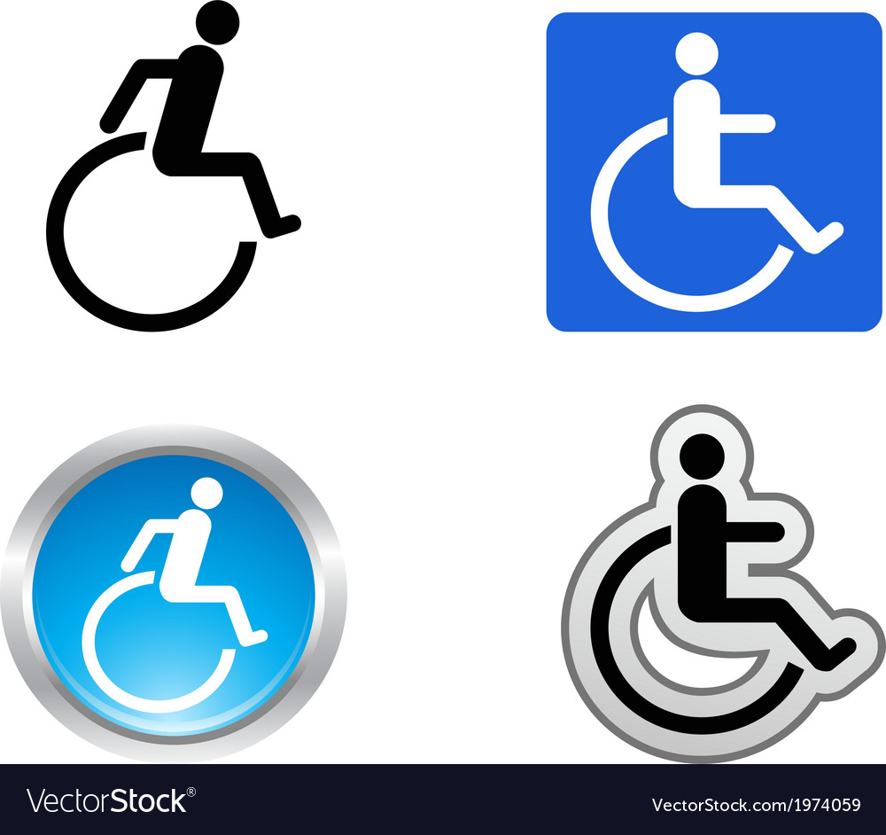 Disability symbol vector | Price: 1 Credit (USD $1)