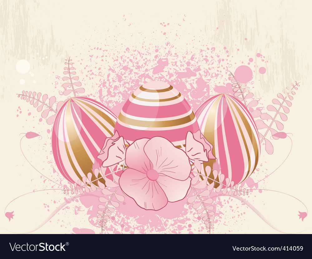 Floral easter egg vector   Price: 1 Credit (USD $1)