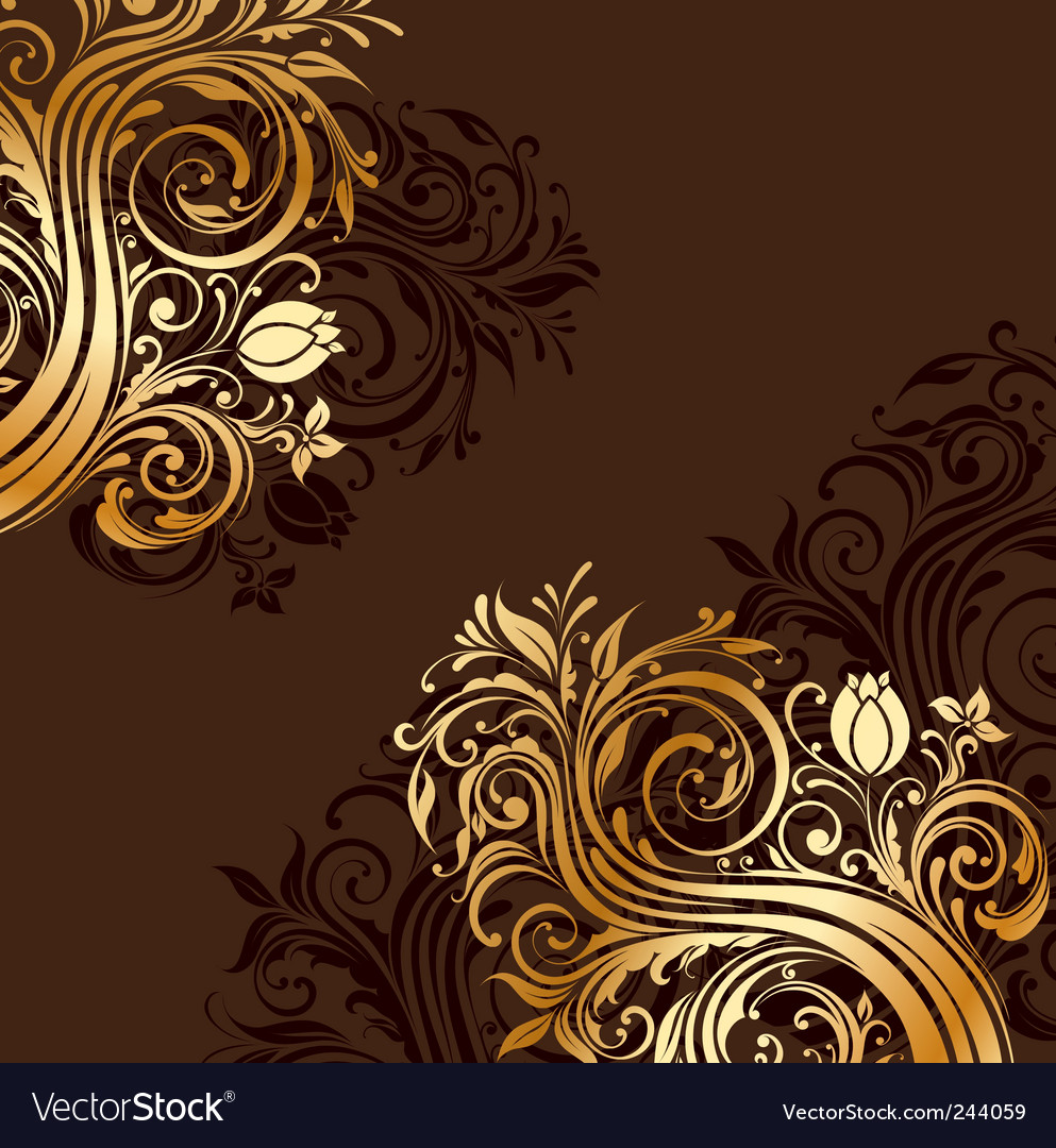 Gold floral ornaments vector | Price: 1 Credit (USD $1)