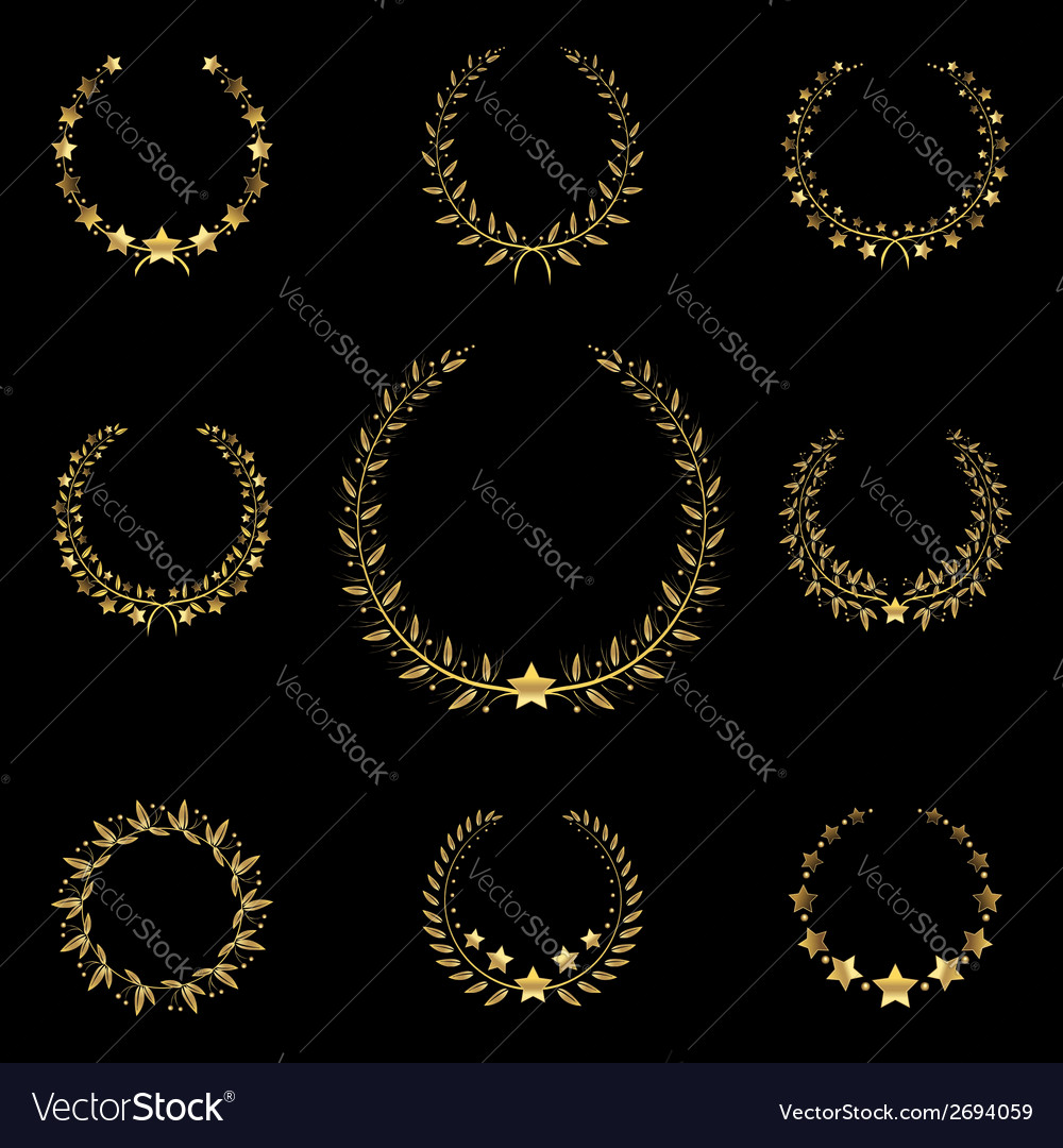 Golden wreath vector | Price: 1 Credit (USD $1)