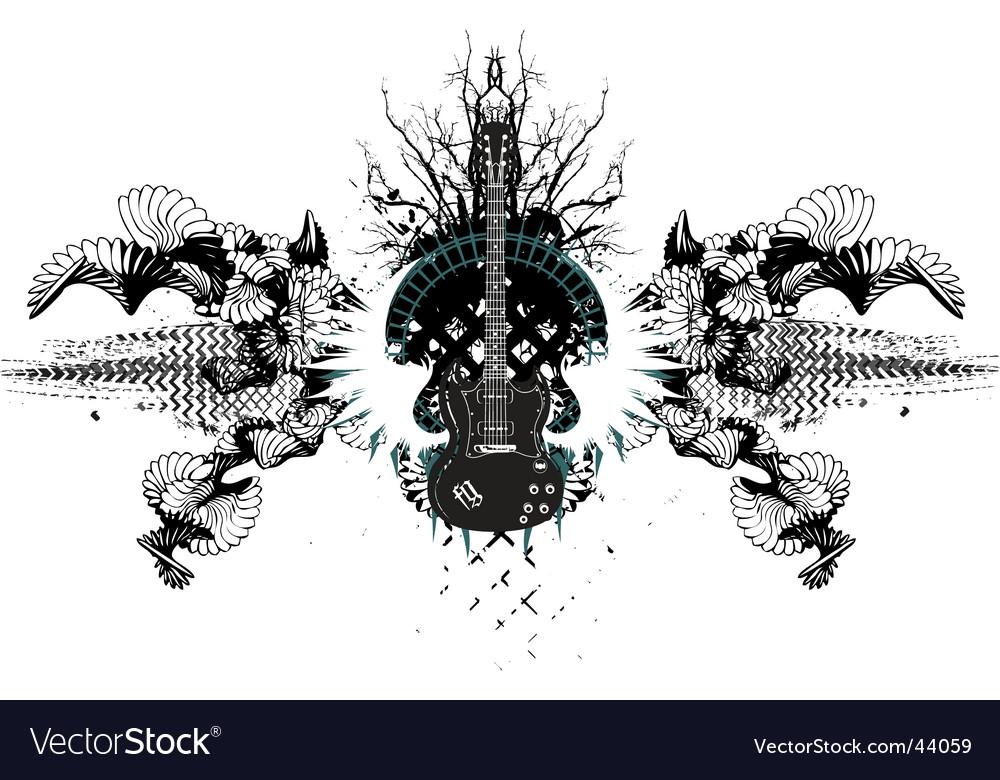 Grunge guitar vector | Price: 1 Credit (USD $1)