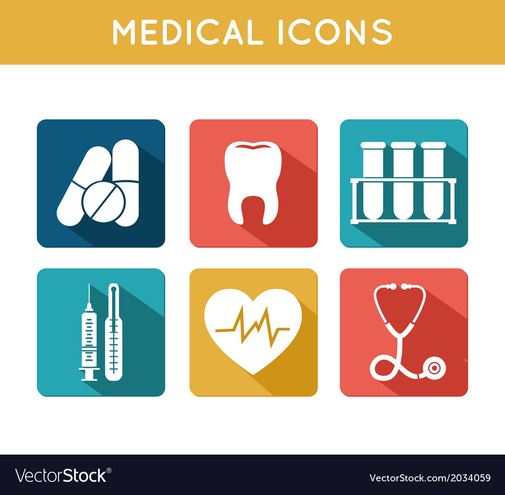 Health care medical icons set vector | Price: 1 Credit (USD $1)