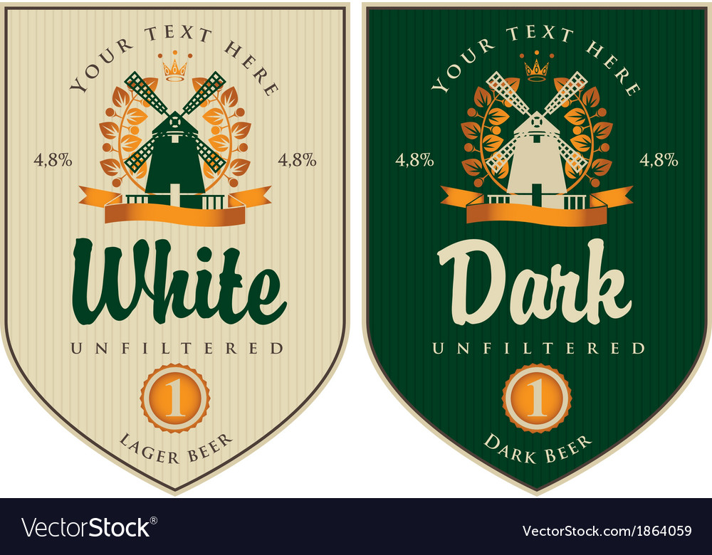 Labels for beer vector | Price: 1 Credit (USD $1)
