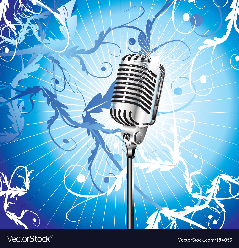 Microphone background vector | Price: 3 Credit (USD $3)