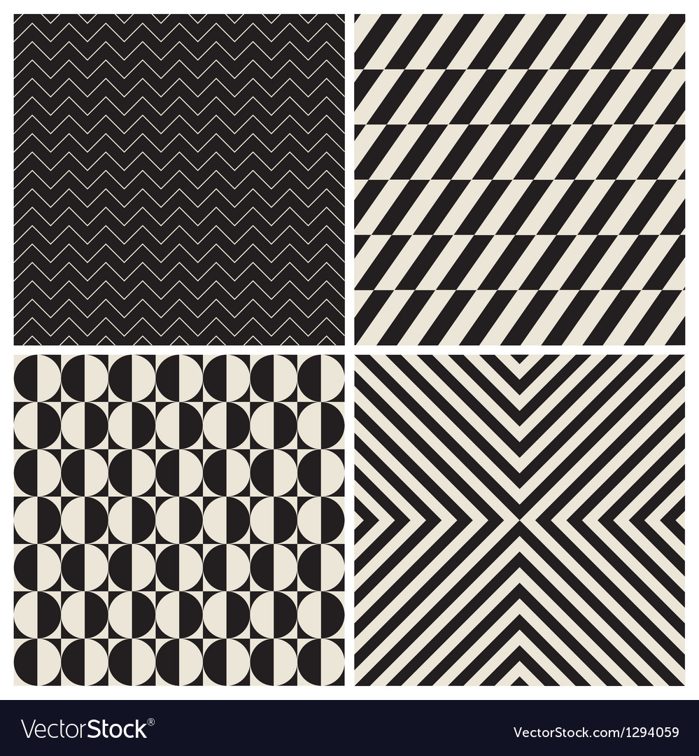 Pattern background set retro vintage vector | Price: 1 Credit (USD $1)