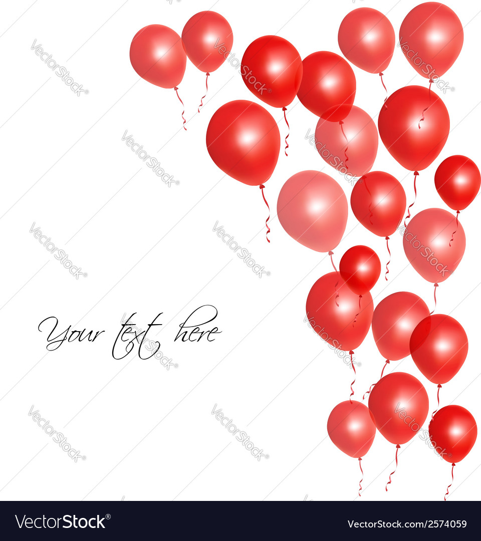 Red balloons vector | Price: 1 Credit (USD $1)