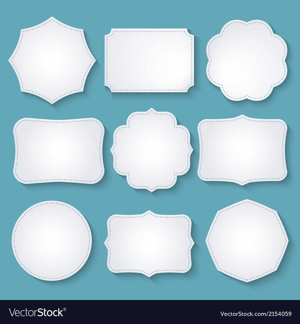 Set of paper decorative frames vector | Price: 1 Credit (USD $1)