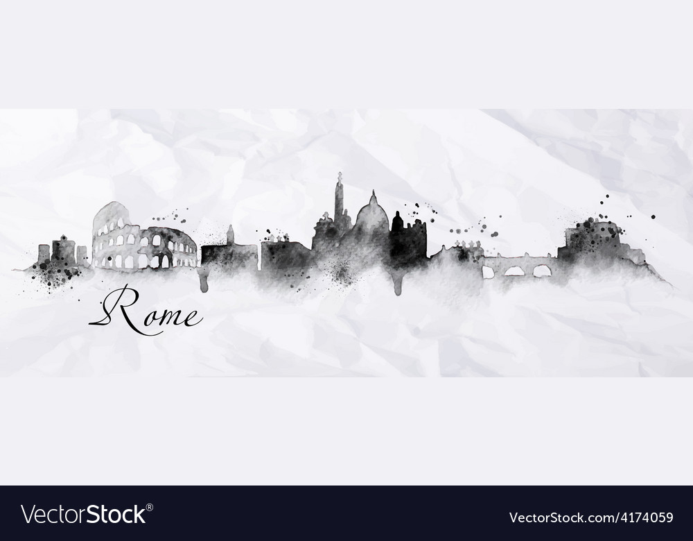 Silhouette ink rome vector | Price: 3 Credit (USD $3)