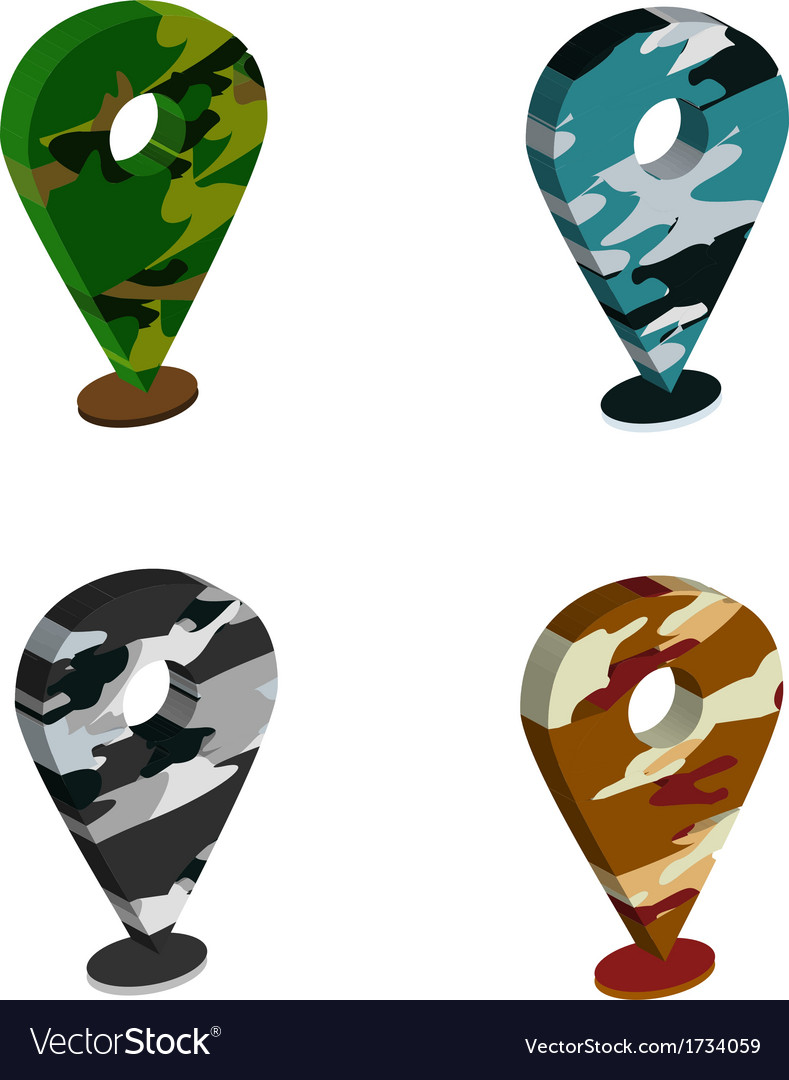 Solider pattern pin map vector | Price: 1 Credit (USD $1)