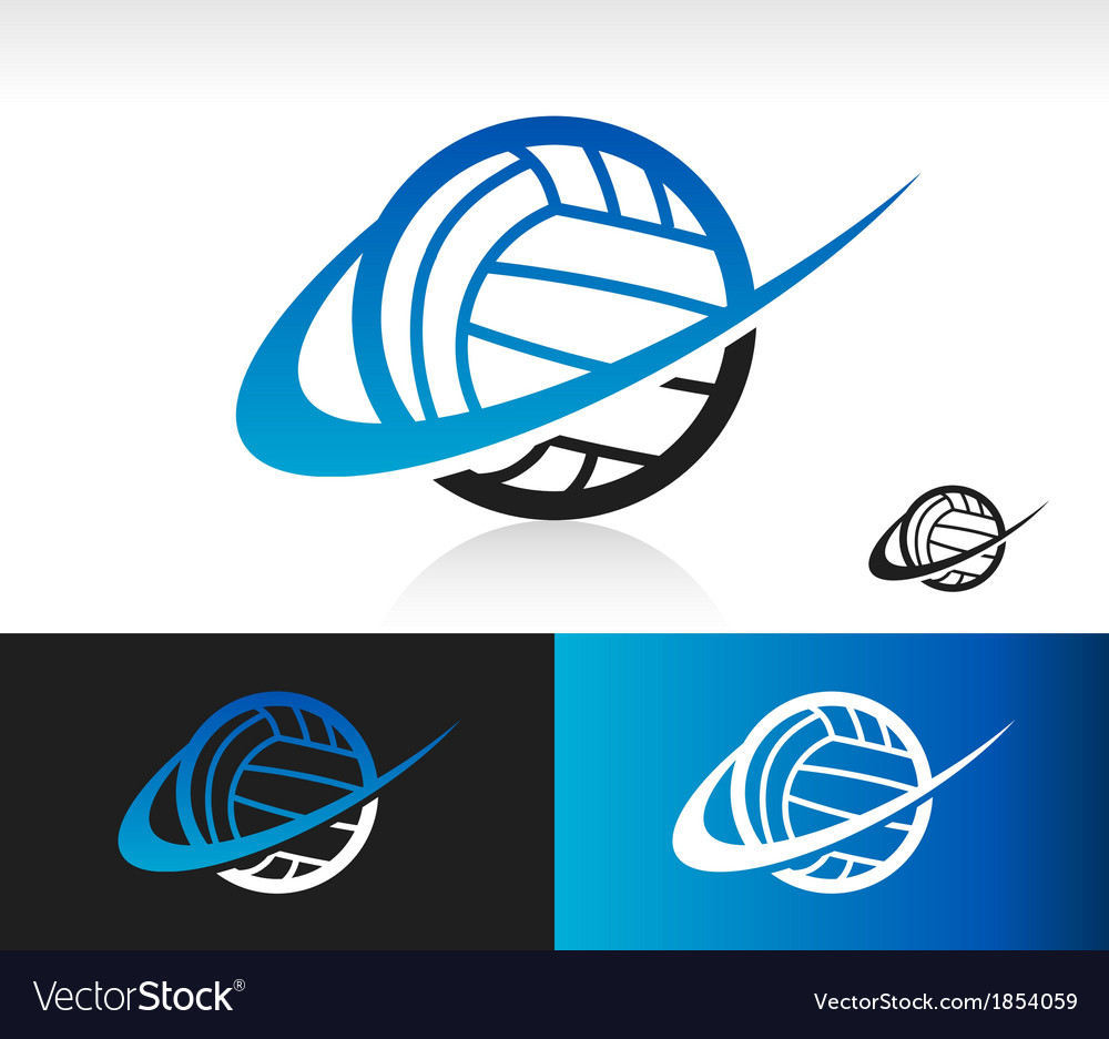Swoosh volleyball logo icon vector | Price: 1 Credit (USD $1)