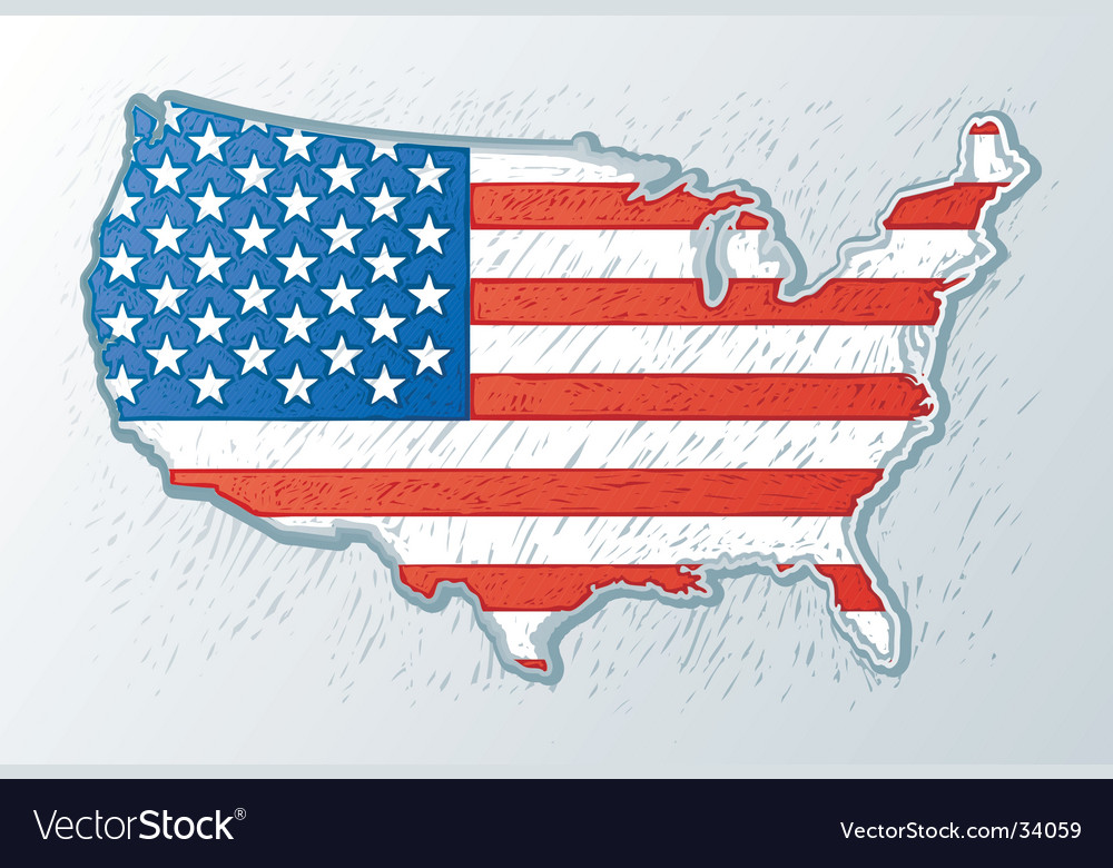 Usa engrave style vector | Price: 1 Credit (USD $1)