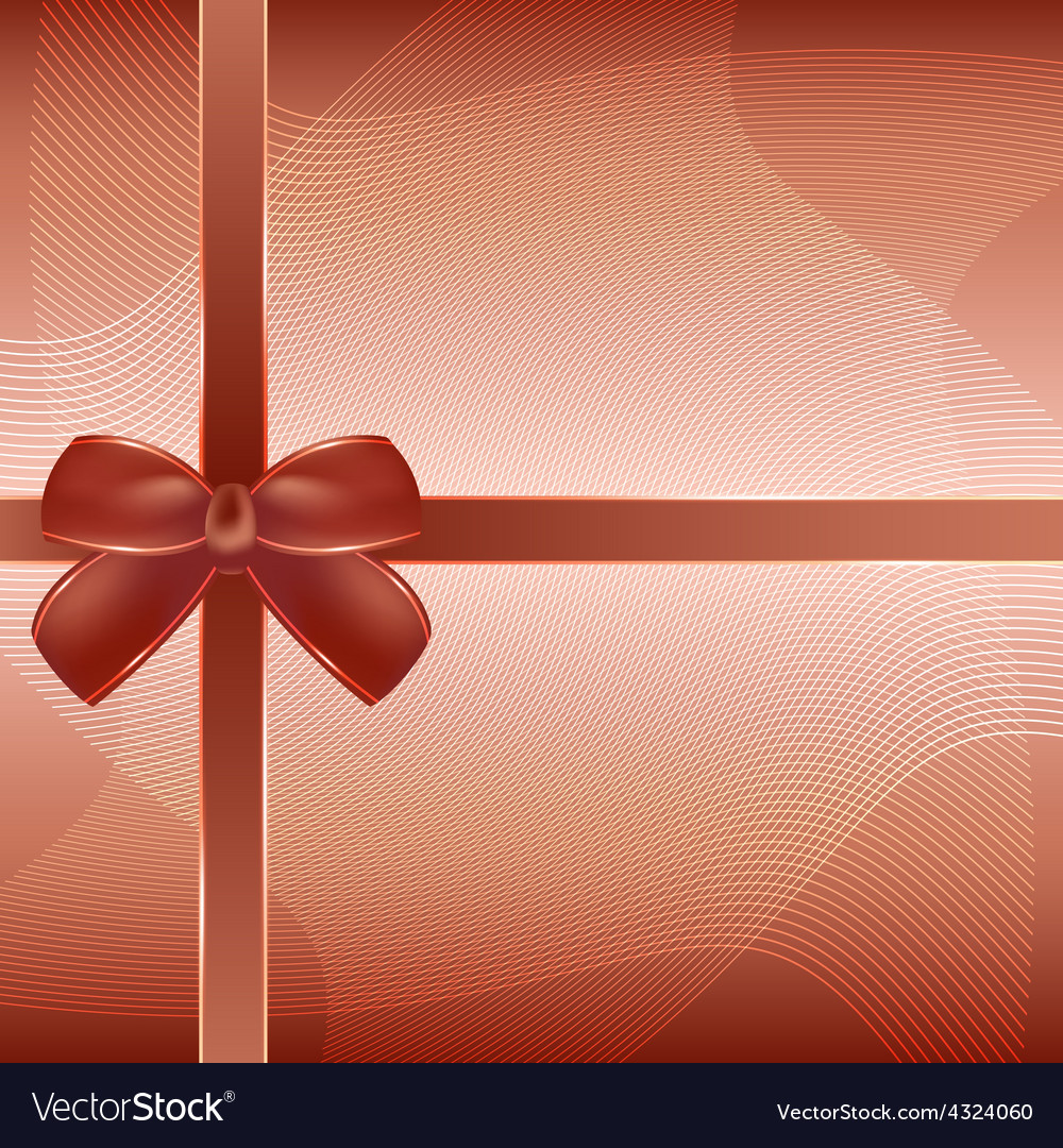 Cover of the present box brown background vector | Price: 3 Credit (USD $3)