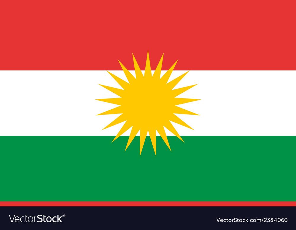Flag of kurdistan vector | Price: 1 Credit (USD $1)