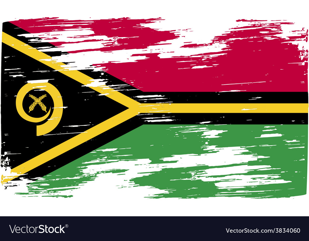 Flag of vanuatu with old texture vector | Price: 1 Credit (USD $1)
