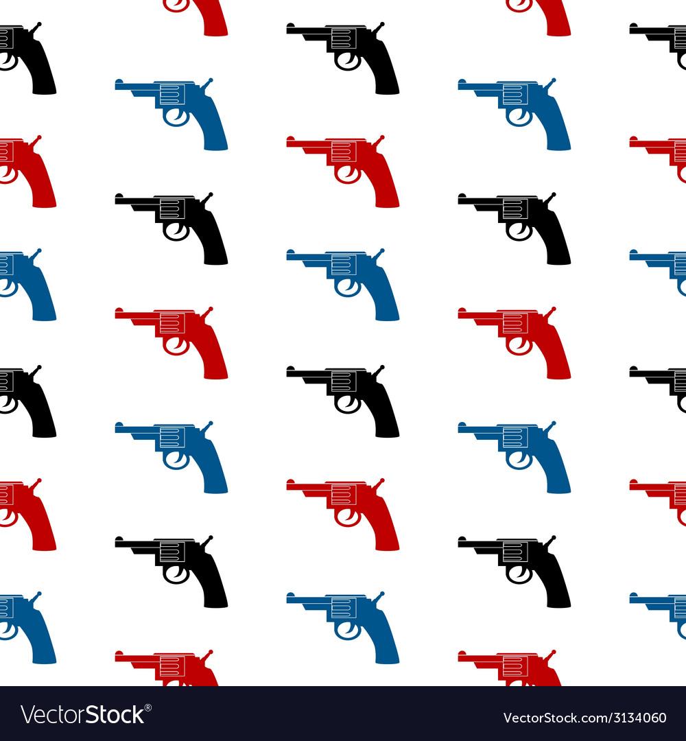Revolver symbol seamless pattern vector | Price: 1 Credit (USD $1)
