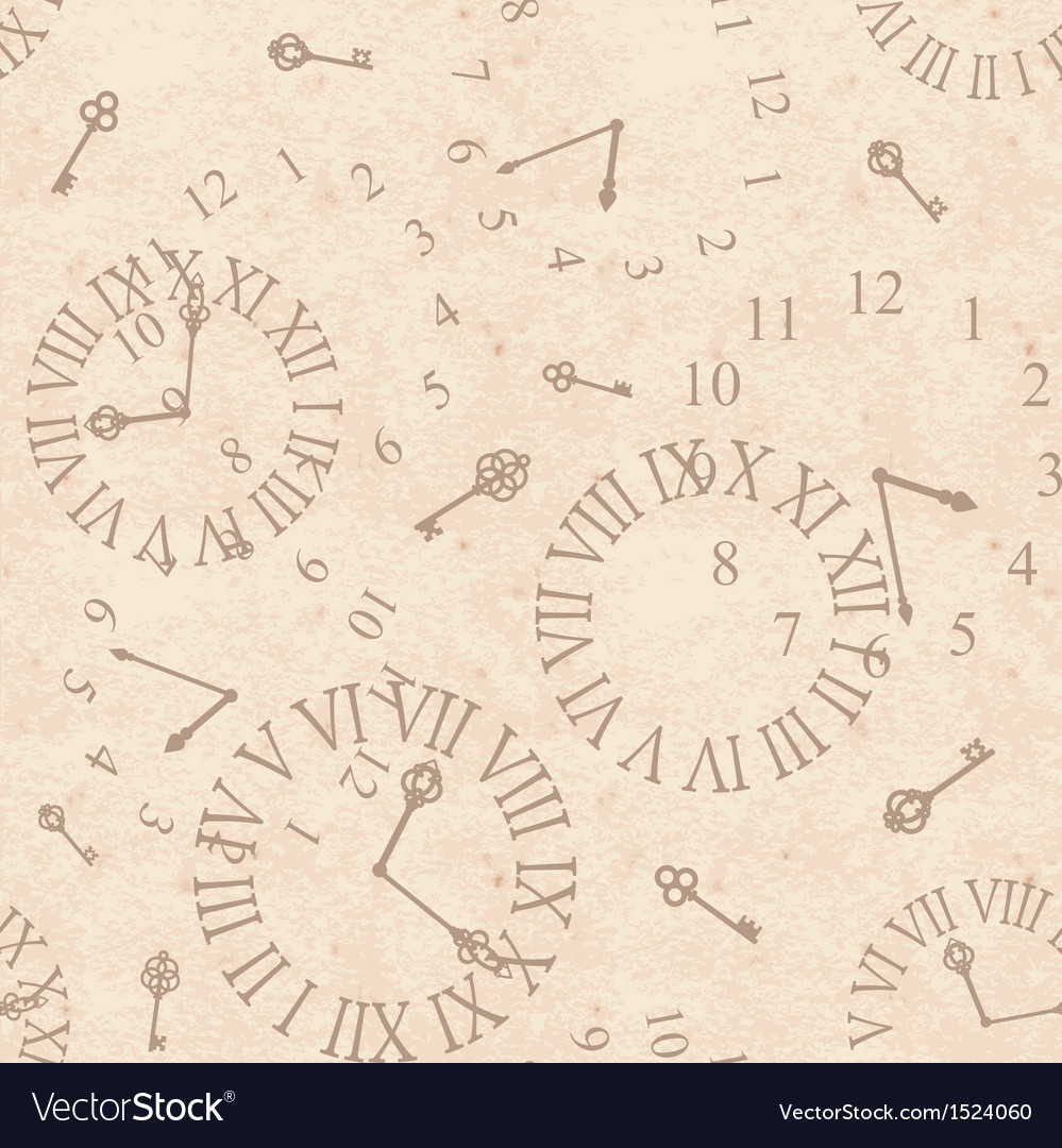 Seamless background ancient clock face on old vector | Price: 1 Credit (USD $1)