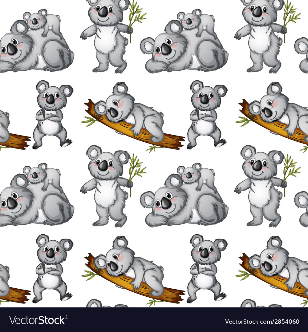 Seamless koala vector | Price: 1 Credit (USD $1)