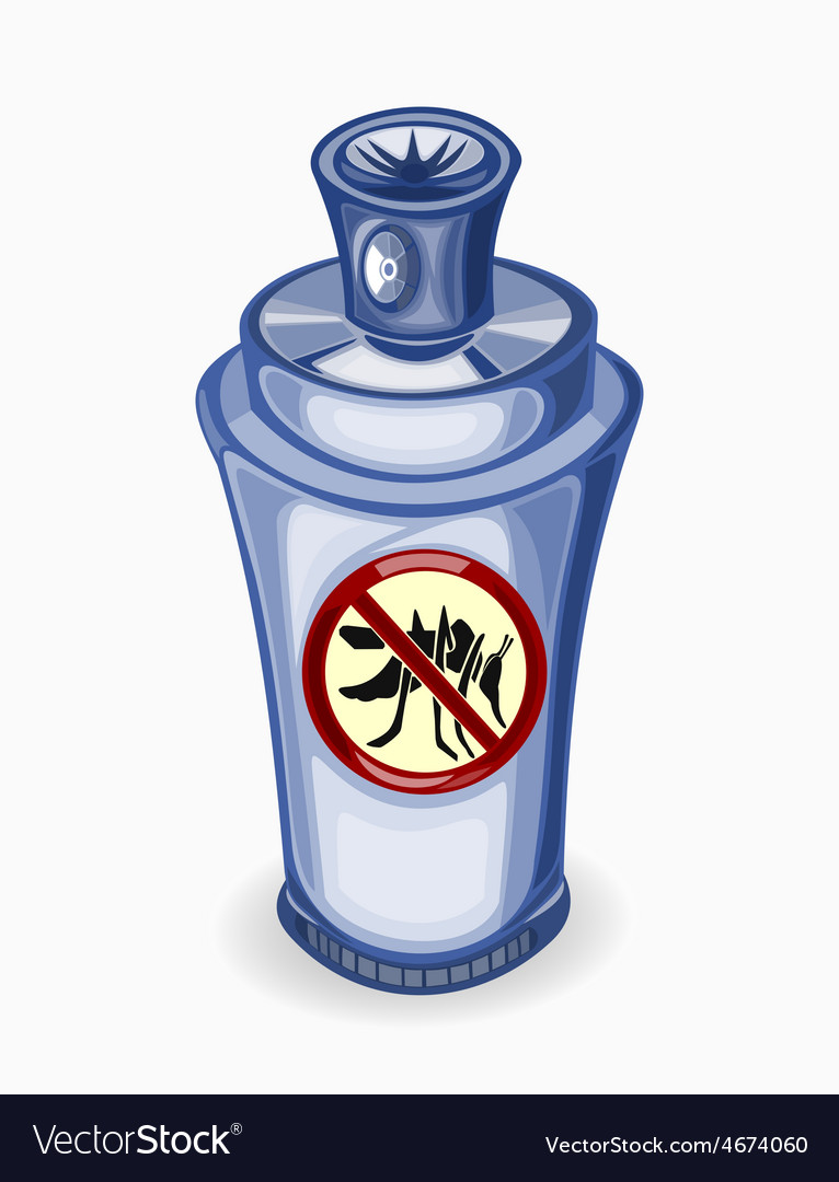 Spray for mosquitoes on a white vector | Price: 3 Credit (USD $3)