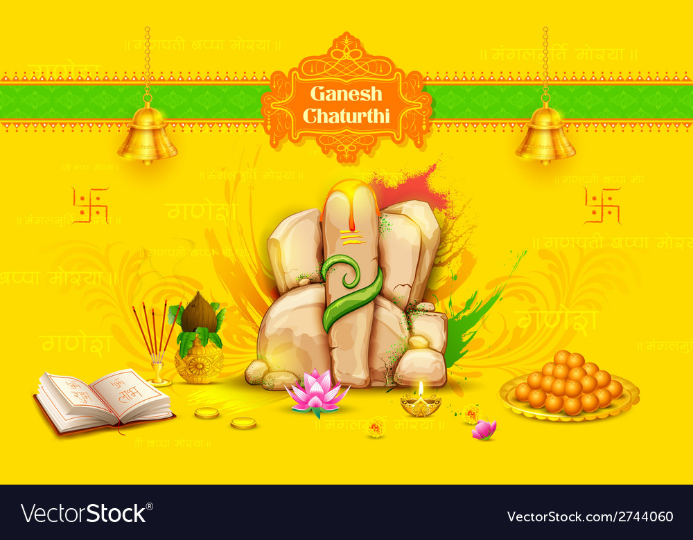 Statue of lord ganesha made of rock for ganesh vector | Price: 1 Credit (USD $1)
