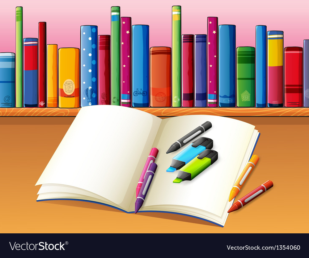 Study book stationery vector | Price: 1 Credit (USD $1)
