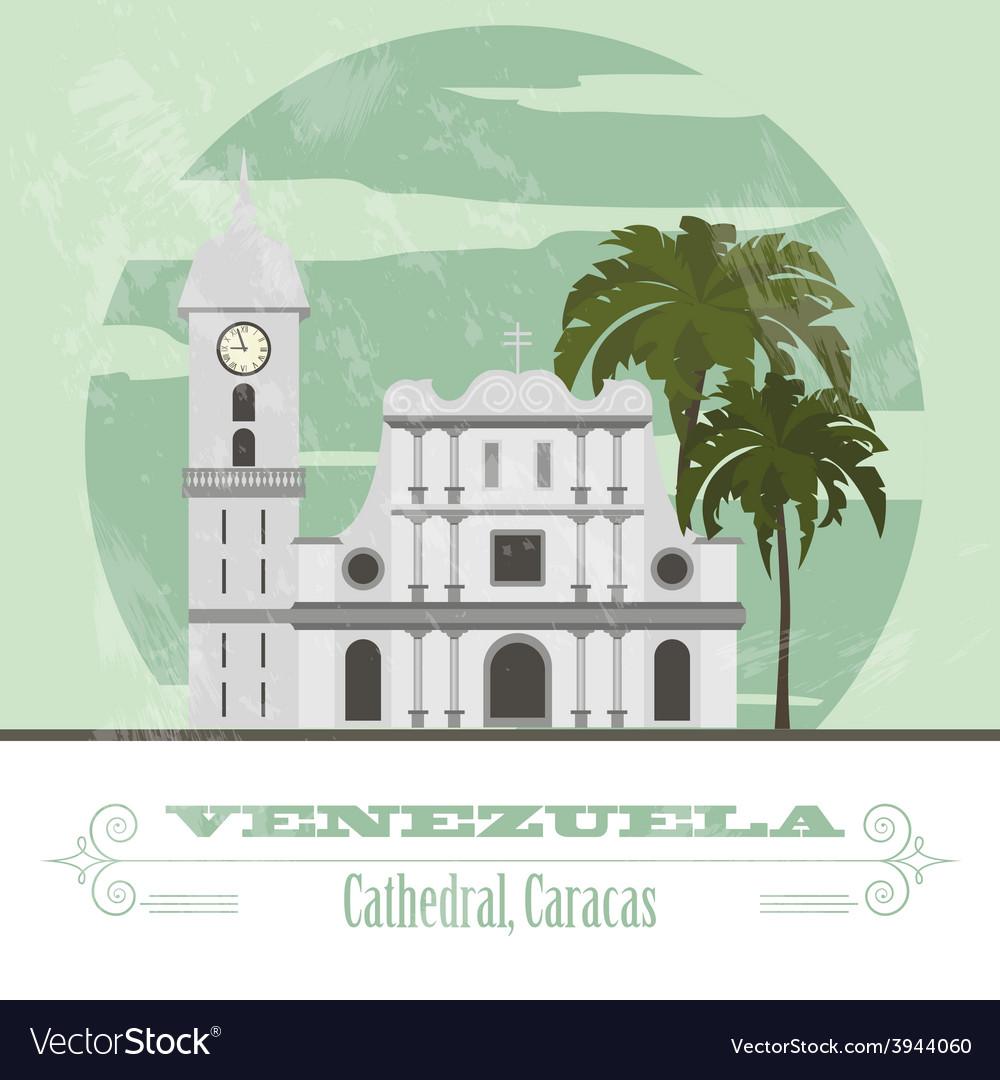 Venezuela landmarks retro styled image vector | Price: 1 Credit (USD $1)